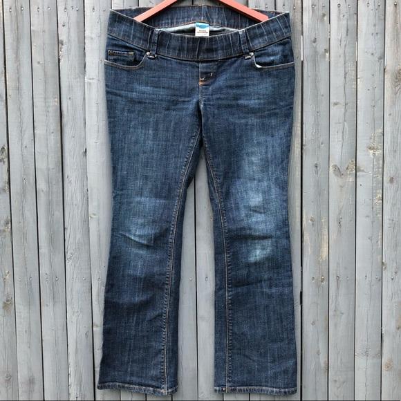 Old Navy Denim - Woven Waistband Boot Cut Maternity Jeans 6 SHORT